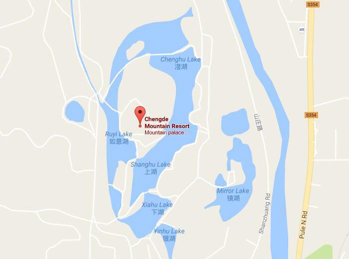 Chengde Summer Resort Imperial Summer Villa Of Emperors Of Qing - Chengde map