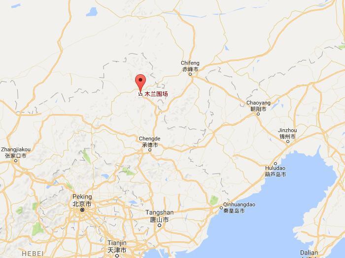 China Chengde Mulan Paddock Beautiful Natural Grassland Resorts - Chengde map