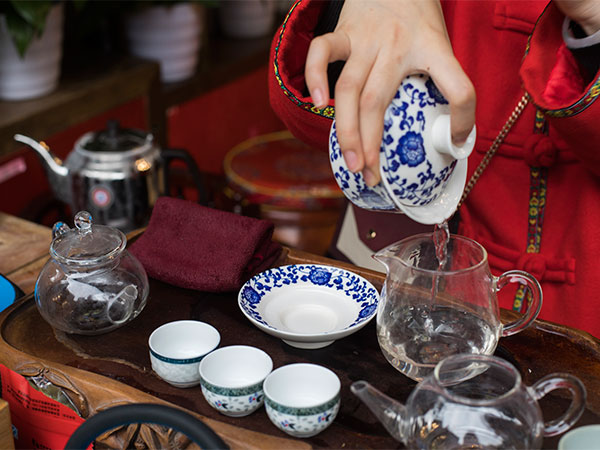 Drink a Cup of Tea at Local Tea House