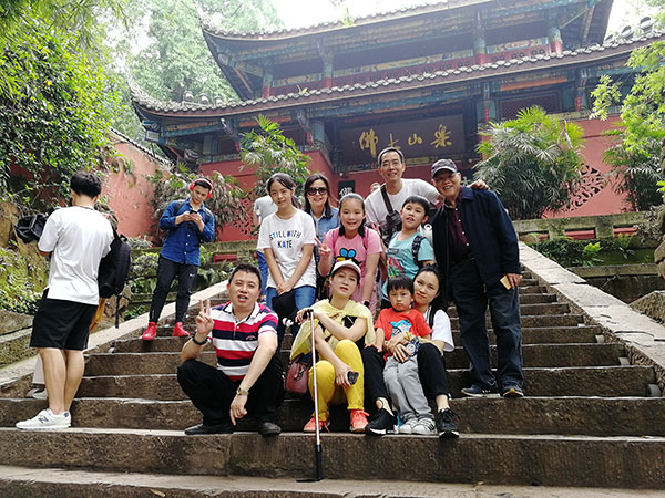 Clients at Leshan