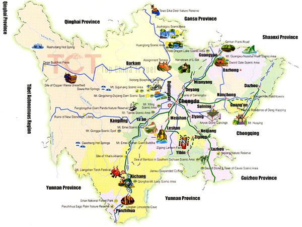 mapa de sichuan