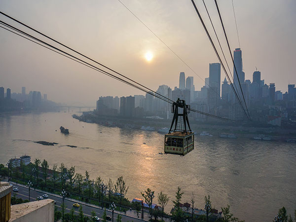 Have a Bird-eye View of Chongqing by Ropeway