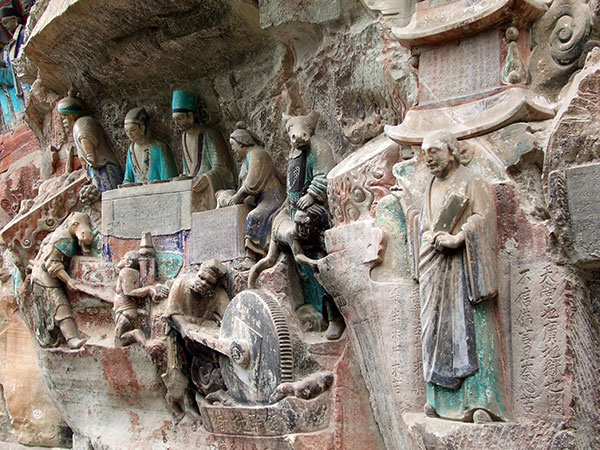 Dazu rock carvings buddhist chongqing