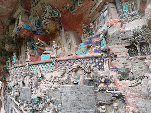 Dazu buddhist rock carvings chongqing what to see