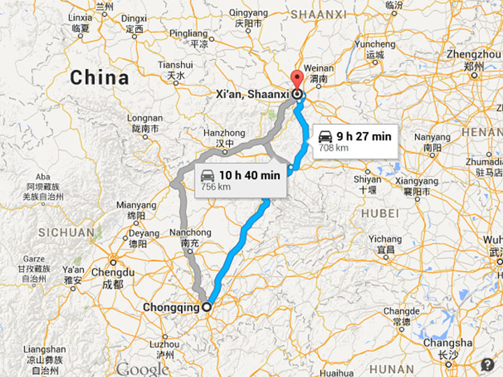 How to Get to Xian from Chongqing