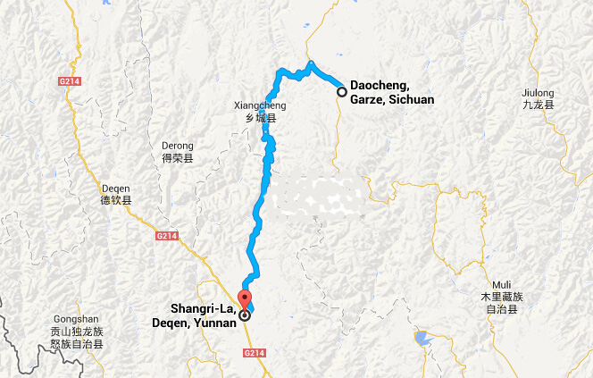 Travel from Daocheng to Shangrila