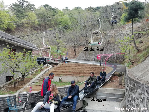 toboggan and slide rail in mutianyu
