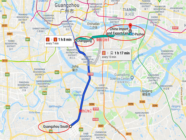 Get to Canton Fair from Guangzhou South Railway Station