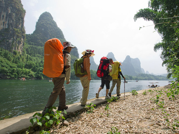 Hike in Li River
