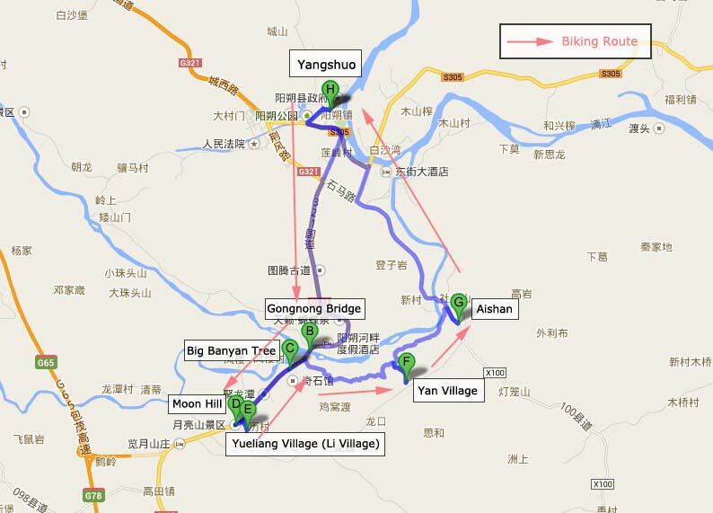 Rutas de bicicleta en Yangshuo 02