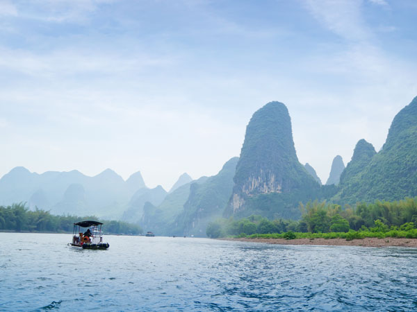 Top China Travel clients taking Li River Cruise