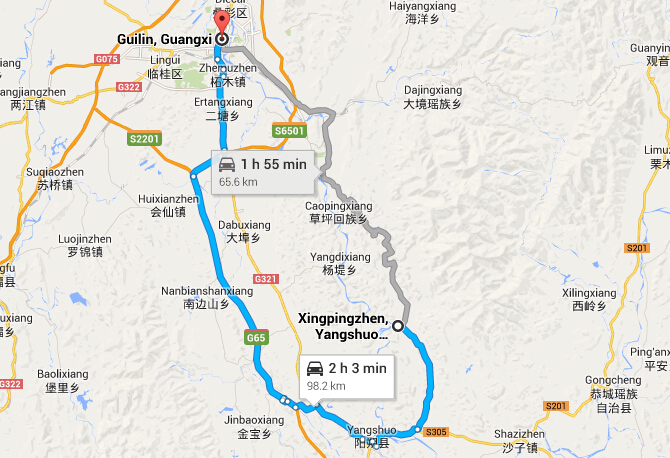 Guilin to Xingping