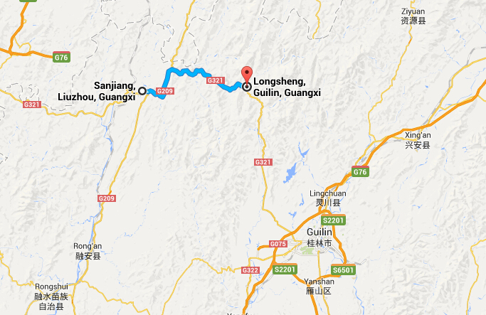 Travel from Sanjiang to Longsheng