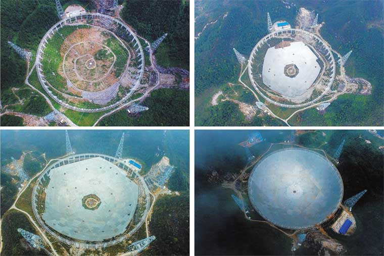 china's world largest radio telescope---FAST under consctruction