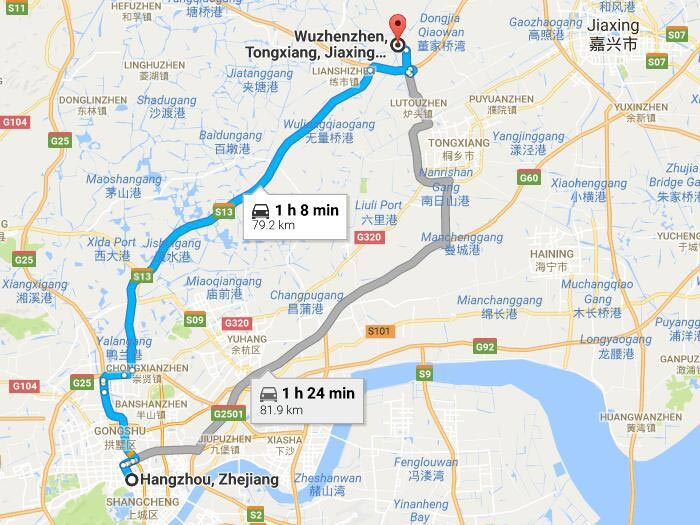 how to get to wuzhen water town from hangzhou