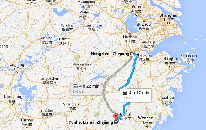 How to get to yunhe rice terrace from hangzhou travel to for Where is terrace