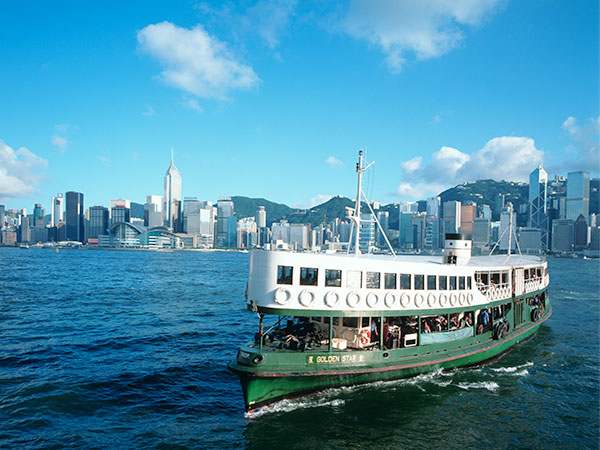 Take a Ferry in Hong Kong Victoria Harbor