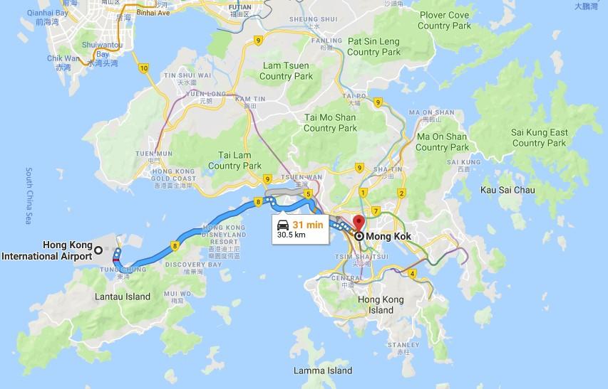 Cómo llegar al centro de la ciudad desde el Aeropuerto Internacional de Hong Kong