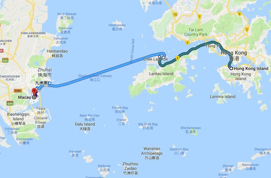 Desde Hong Kong hasta Macao