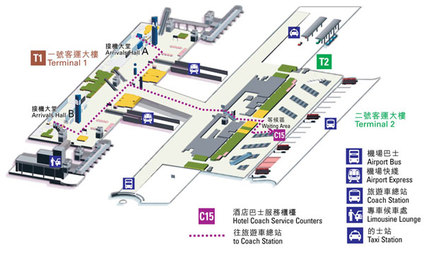 Hong Kong Airport Shuttle Bus Transfer Map