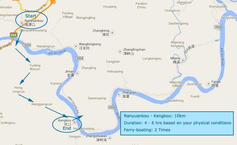 ruta del senderismo en huangshan