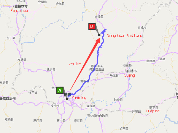 How to Get to Dongchuan Red Land from Kunming