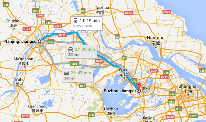 How To Get To Suzhou From Nanjing Trains Or Bus Travel From - Nanjing map