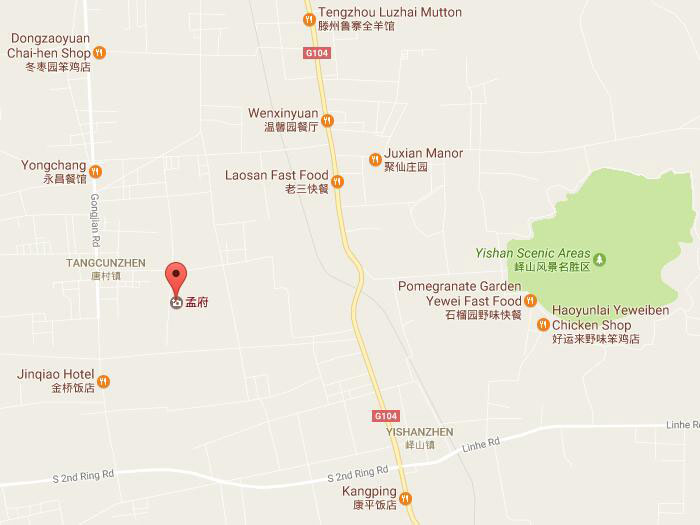 Mencius Temple In Jining Of Shandong Province Meng Miao - Jining map