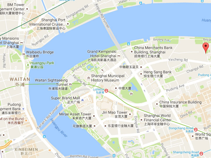 Binjiang Road Shanghai Riverside Promenade along Huangpu River in
