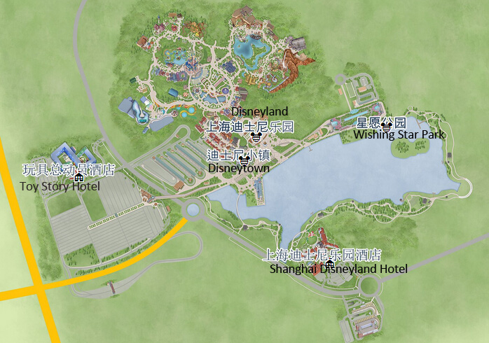 Shanghai disney resort address opening hour map attractions shanghai disney resort map publicscrutiny Images