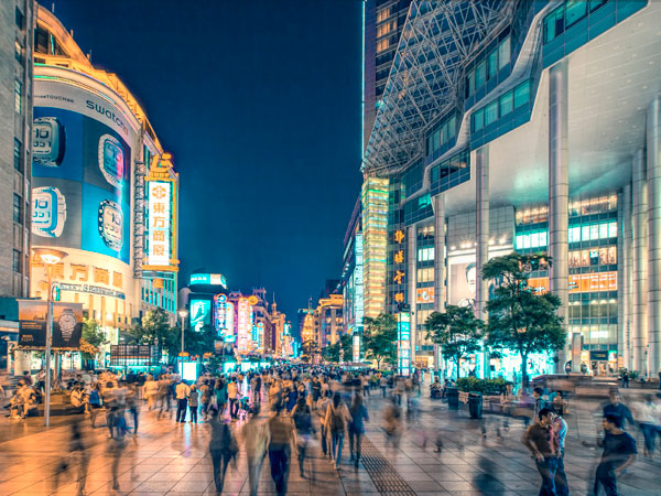 Nanjing Road Night View