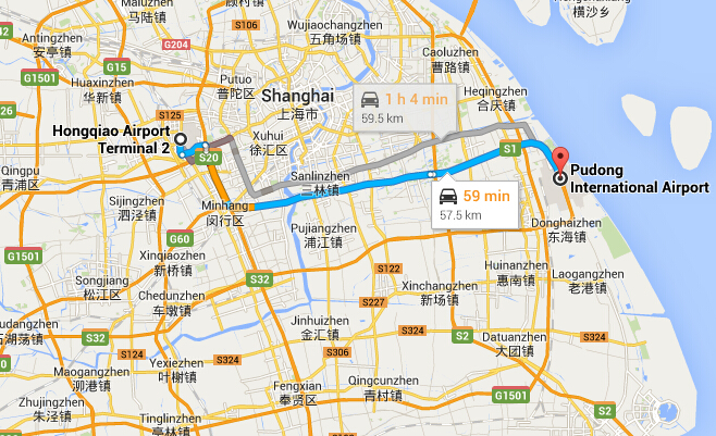 Pudong Shanghai Map How to Get to Shanghai Pudong Airport from Hongqiao Airport