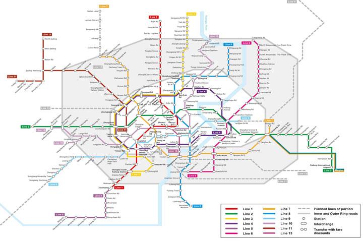 metro map of shanghai subway routes
