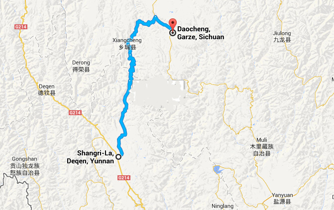 Travel from Shangrila to Daocheng
