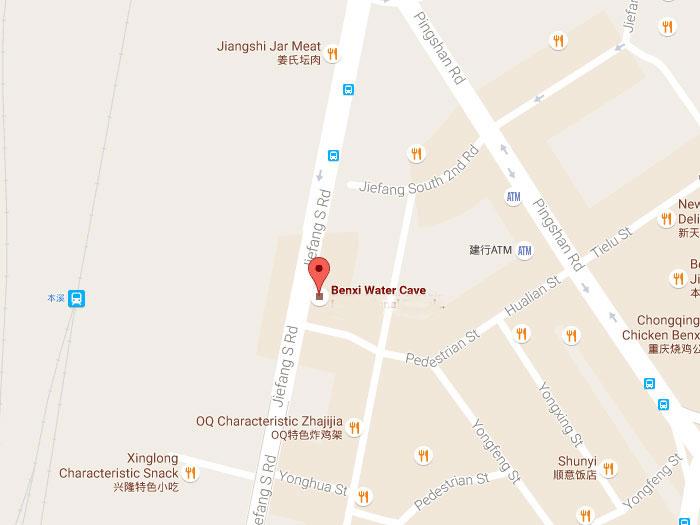 Benxi Water Cave Around Shenyang In Liaoling Facts Travel Guide - Benxi map