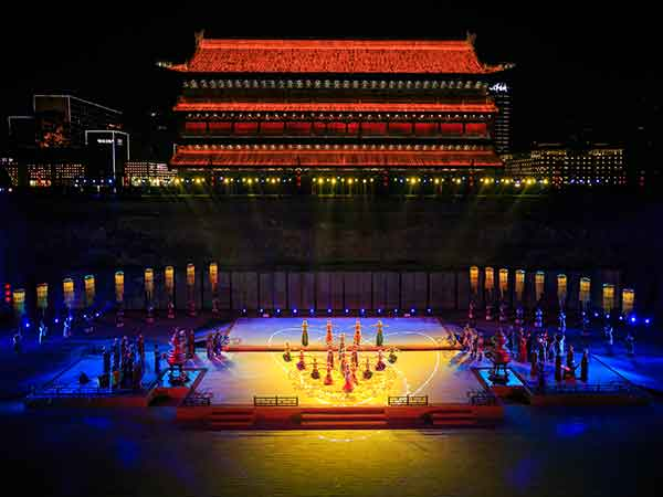 Welcome Ceremony at the Ancient City Wall, Xian