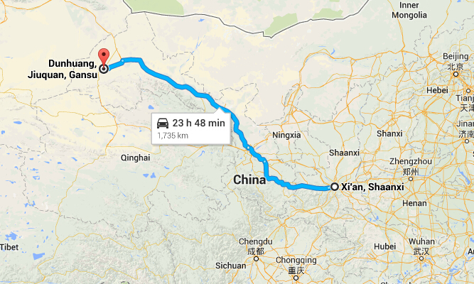 Travel from Xian to Dunhuang