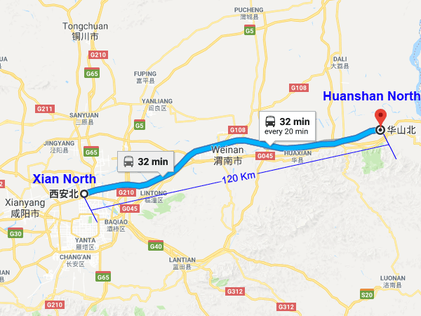 xian to mt. huashan by train