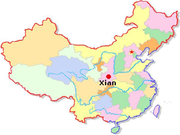 xian in china map Xian Facts Xian Overview Geography Population Climate Xian xian in china map