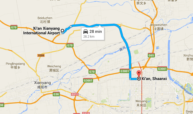 How to Get to the City Center from Xian Xianyang Airport, Bus from ...