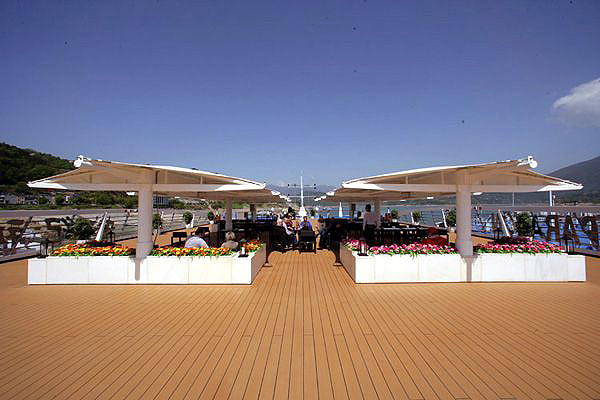 The Top Deck of Yangtze River Cruise Boat