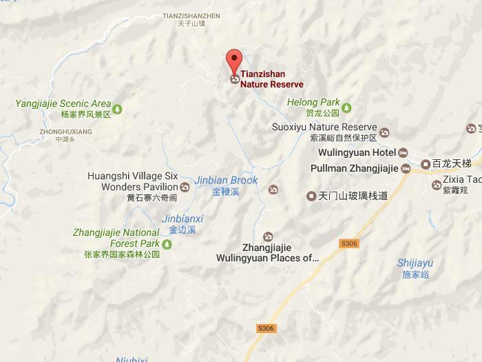 Mapa de Montana Tianzi