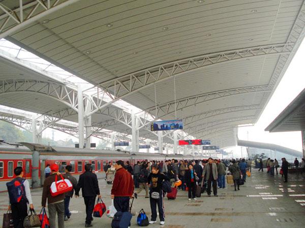 como ir a zhangjiajie en tren