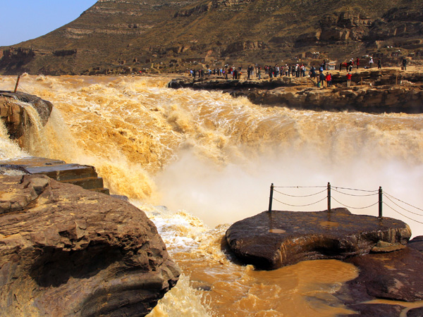 hukou waterfall on yellow river