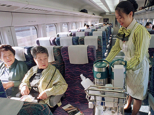 Vendor on China Train