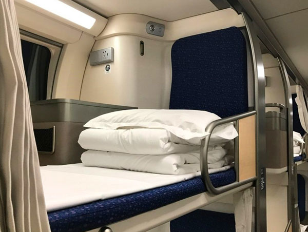 China bullet train sleeper