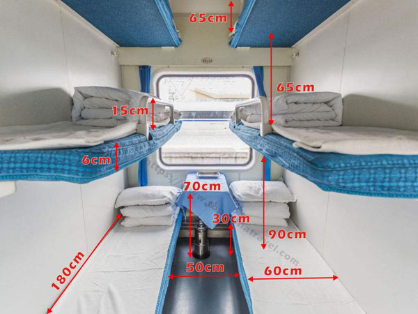 China train Hard Sleeper size