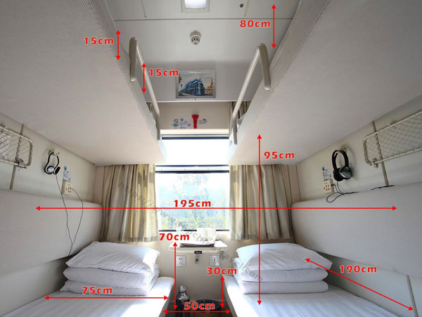 China train Soft Sleeper size