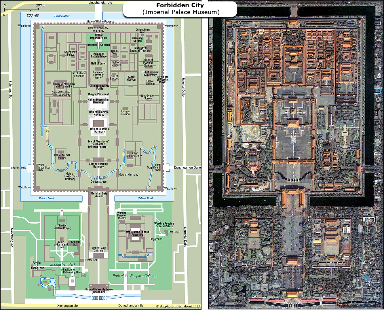 Forbidden City Map Forbidden City Tourist Map Forbidden City Floor