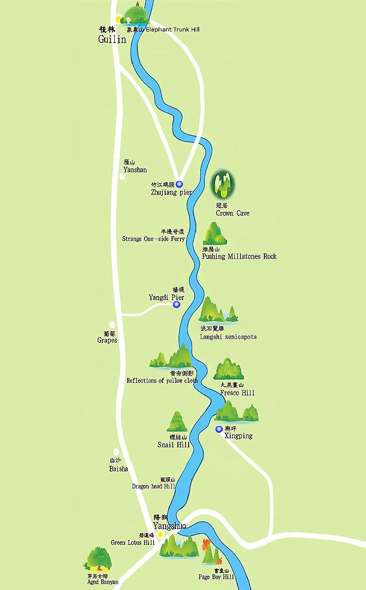 Map of Li River